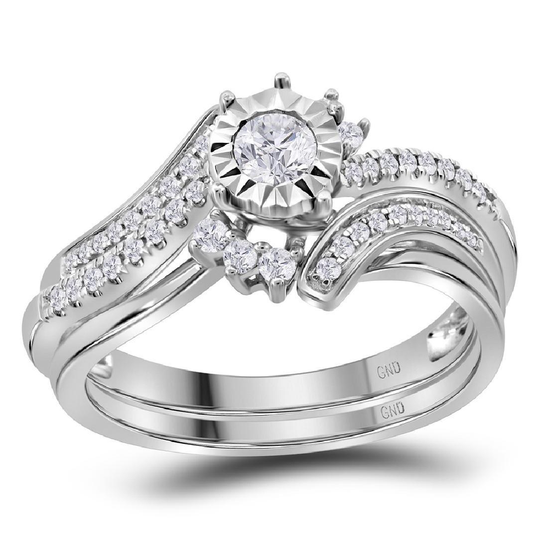 0.38 CTW Diamond Bridal Wedding Engagement Ring 14KT