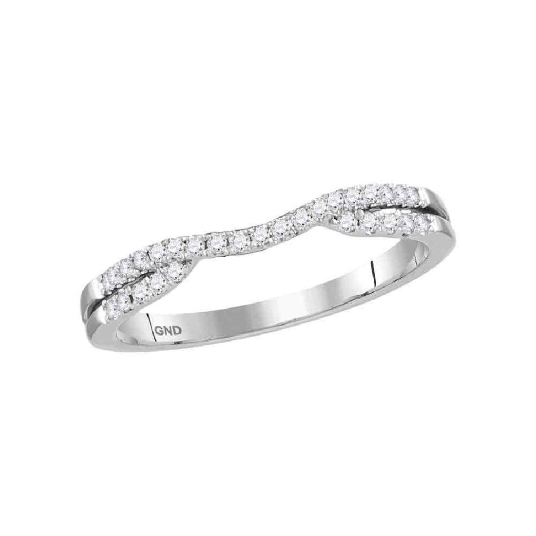0.17 CTW Diamond Contour Enhancer Wedding Ring 14KT