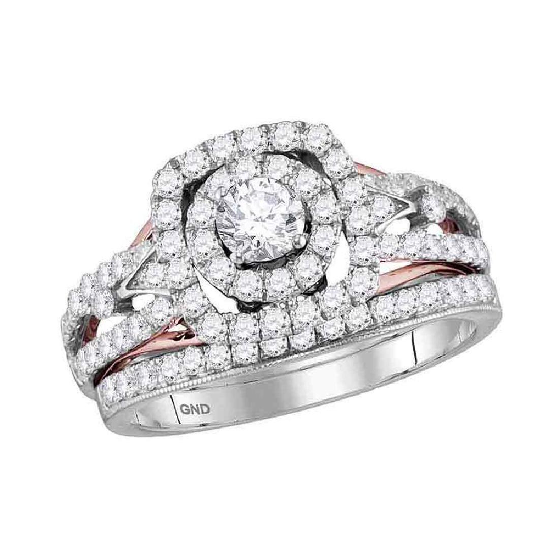 1.2 CTW Diamond Bridal Wedding Engagement Ring 14KT