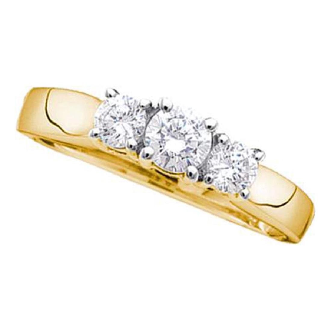 0.54 CTW Diamond 3-stone Bridal Engagement Ring 14KT