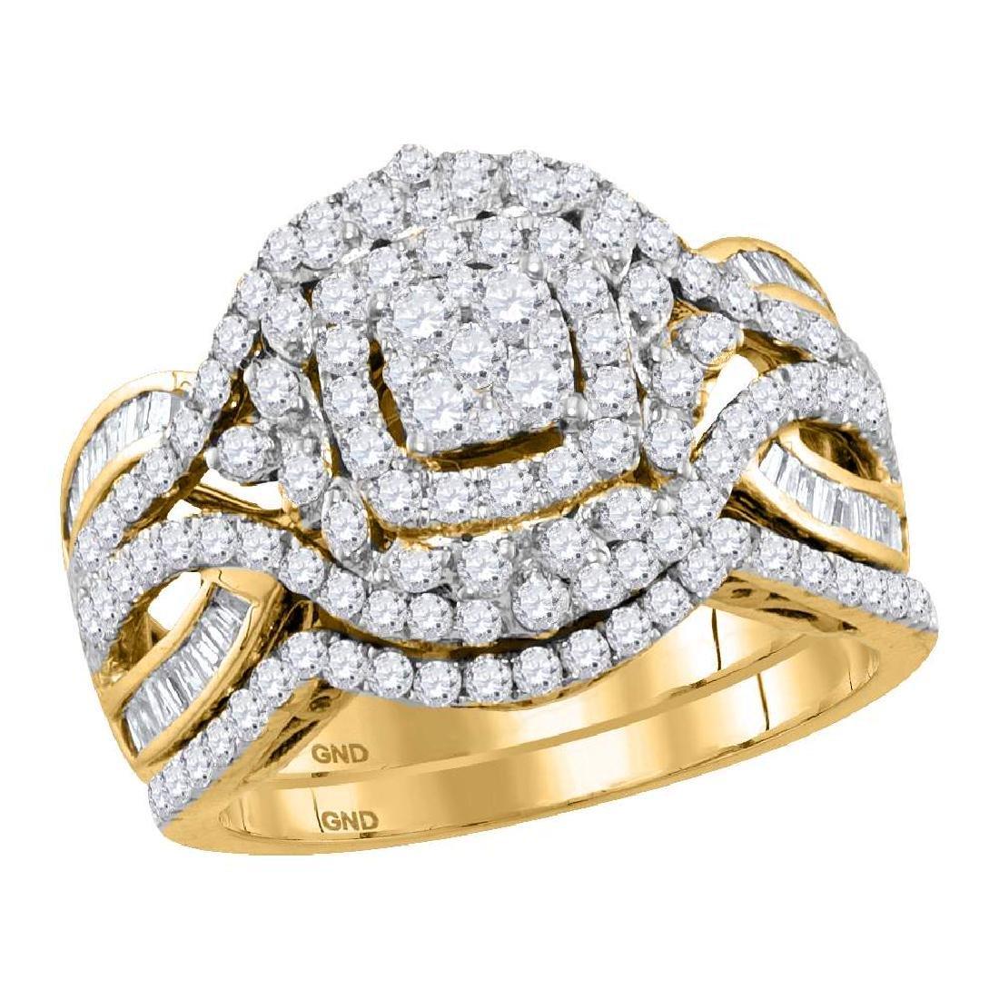 1.48 CTW Diamond Bridal Wedding Engagement Ring 14KT