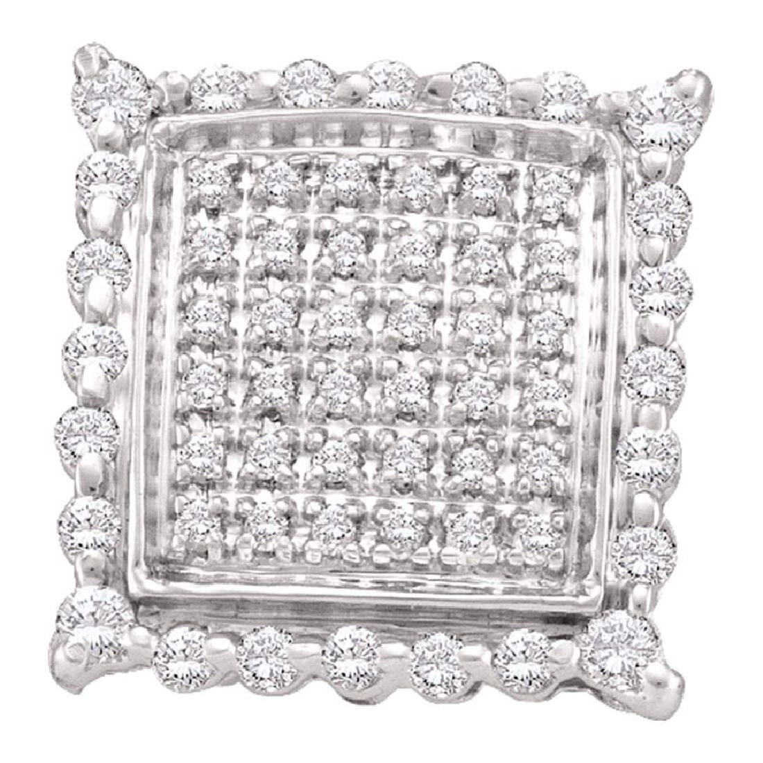 0.50 CTW Diamond Square Cluster Stud Earrings 10KT