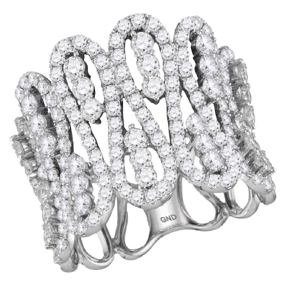 2.5 CTW Diamond Fashion Cocktail Ring 10KT White Gold -