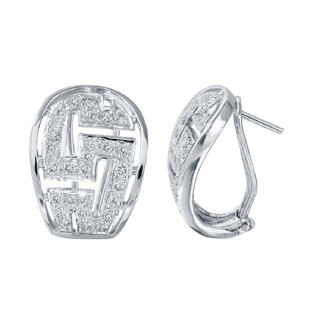 0.83 CTW Diamond Huggy Earring 18K White Gold -
