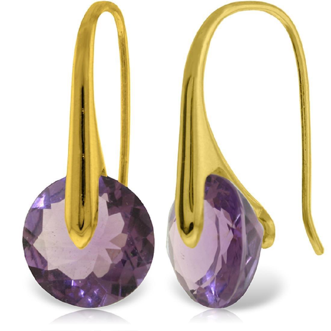 Genuine 11.50 ctw Amethyst Earrings Jewelry 14KT Yellow