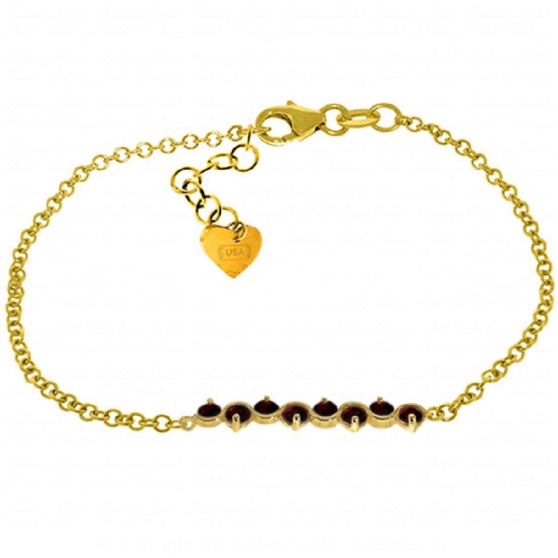 Genuine 1.55 ctw Garnet Bracelet Jewelry 14KT Yellow