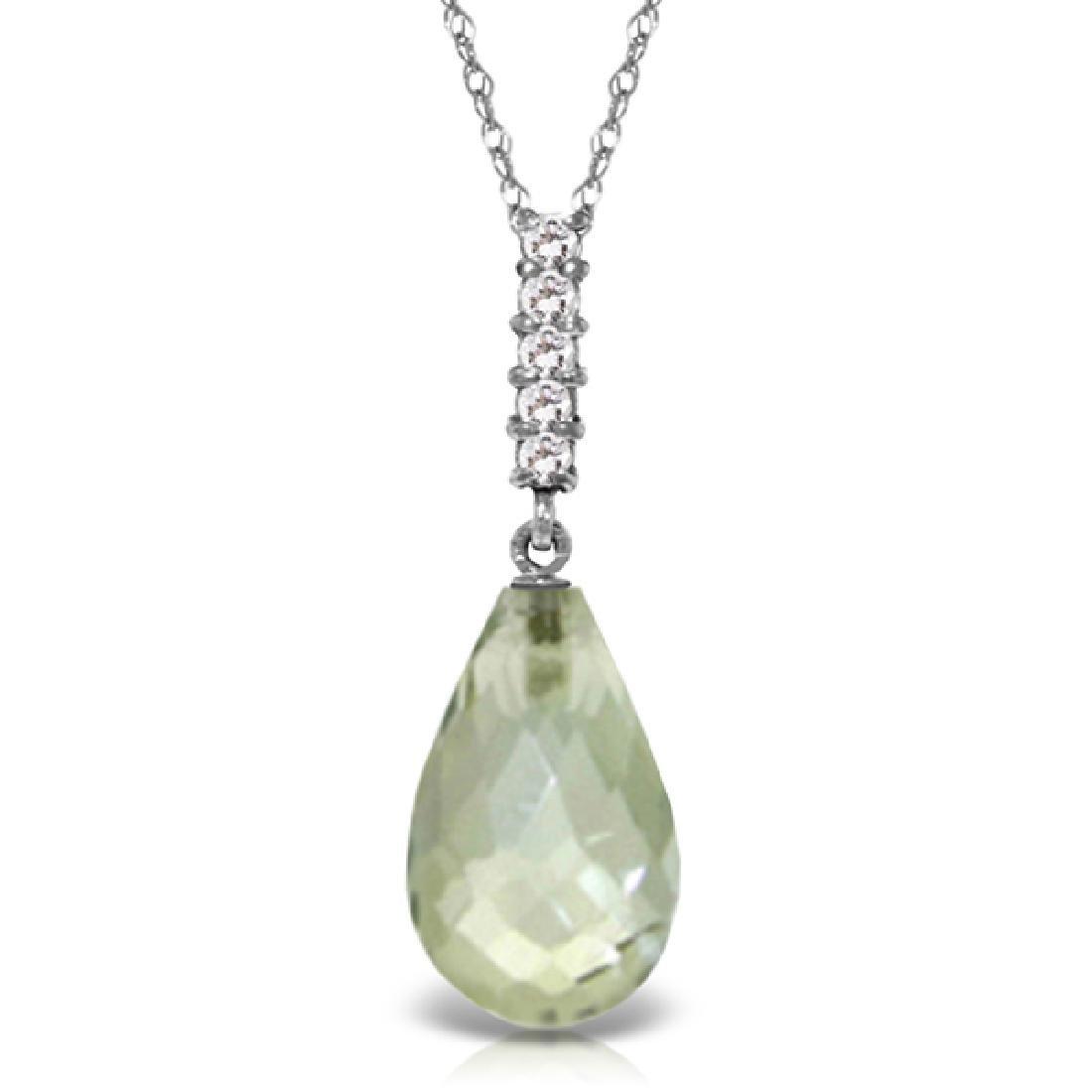 Genuine 5.38 ctw Amethyst & Diamond Necklace Jewelry