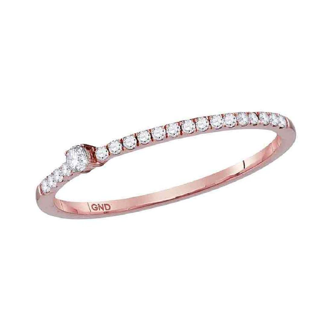 0.14 CTW Diamond Solitaire Stackable Ring 10KT Rose