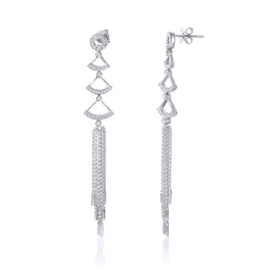 0.59 CTW Diamond & Chandelier Earring 14K White Gold -
