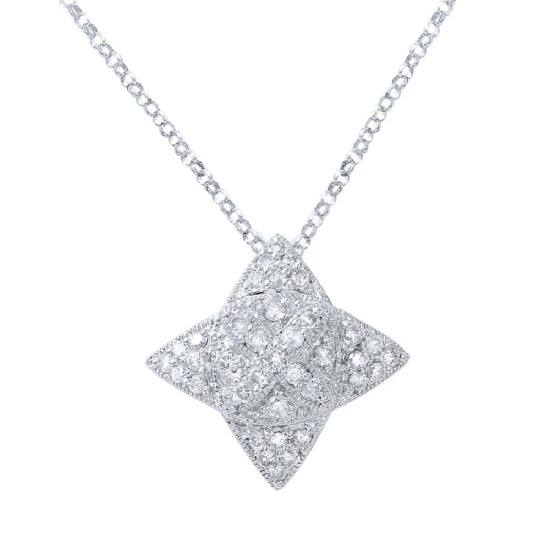 0.68 CTW Diamond & Slider Necklace 18K White Gold -