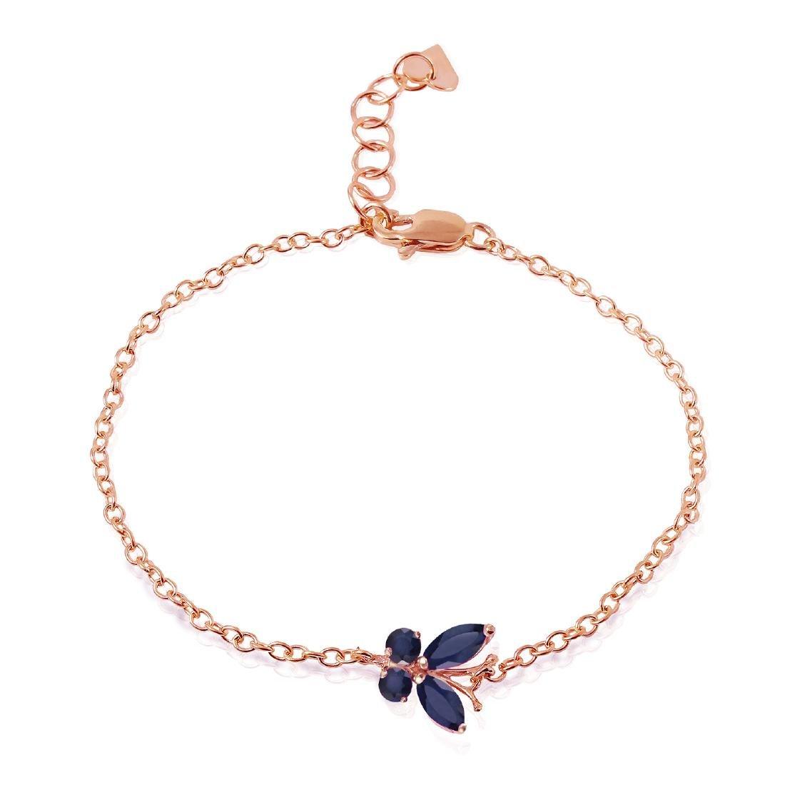 Genuine 0.60 ctw Sapphire Bracelet Jewelry 14KT Rose