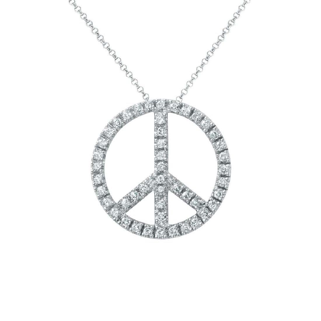 0.67 CTW Diamond Slider Necklace 14K White Gold -