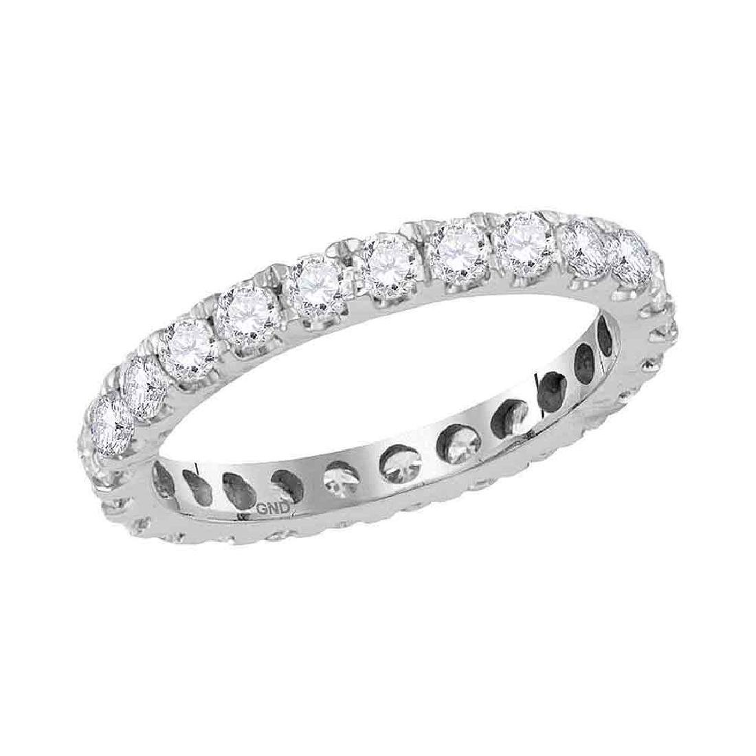 1.5 CTW Diamond Eternity Anniversary Ring 14KT White
