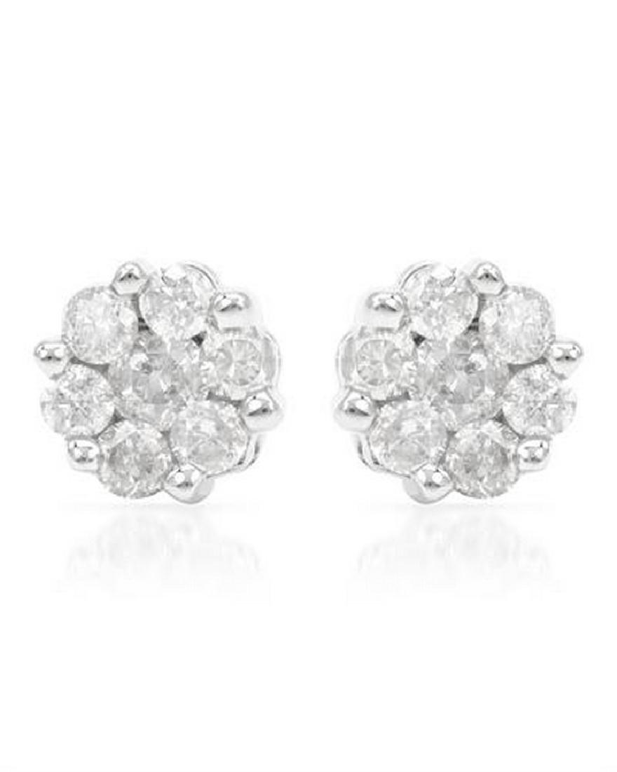 0.25 CTW Diamond Earring 14K White Gold - REF-23H4W