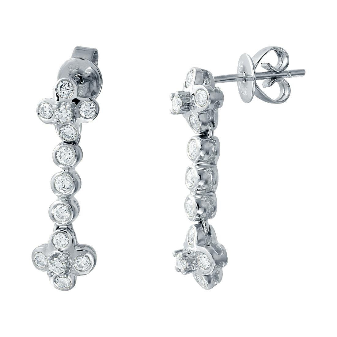 0.85 CTW Diamond & Drop Earring 14K White Gold -