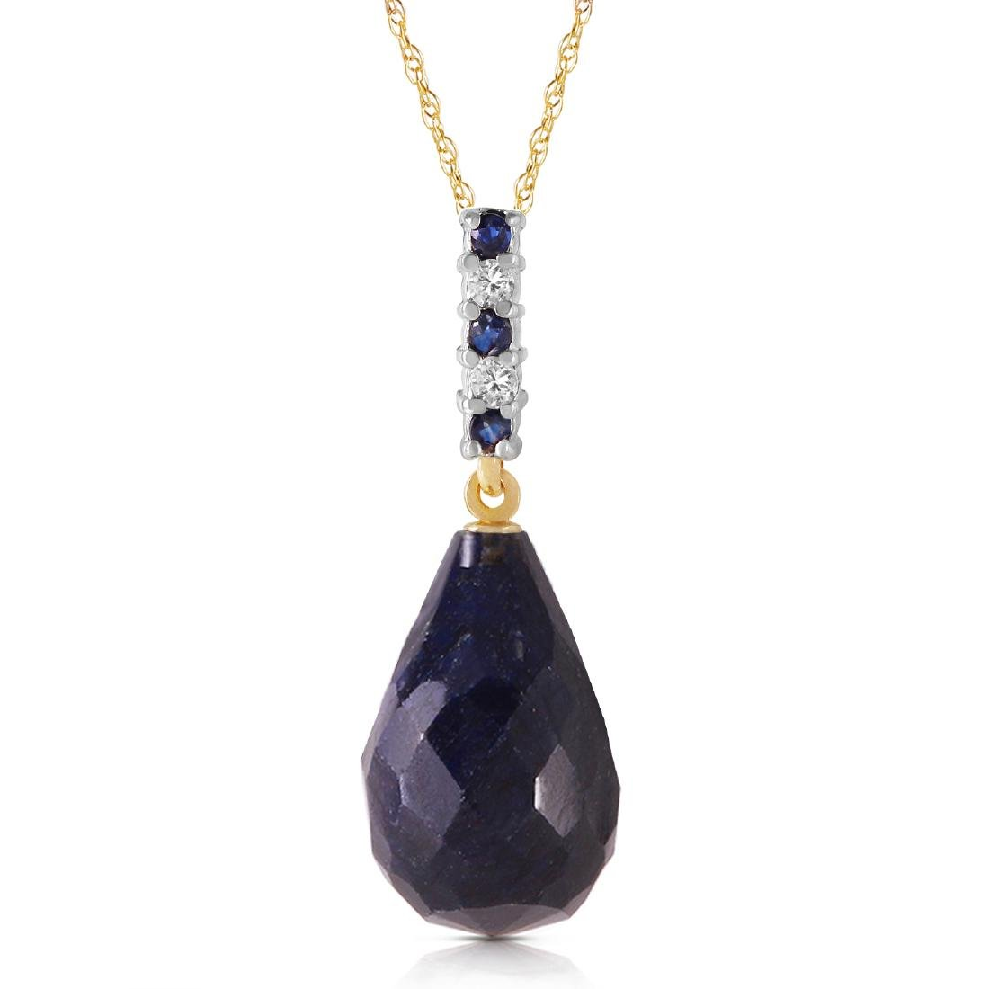 Genuine 8.95 ctw Sapphire & Diamond Necklace Jewelry