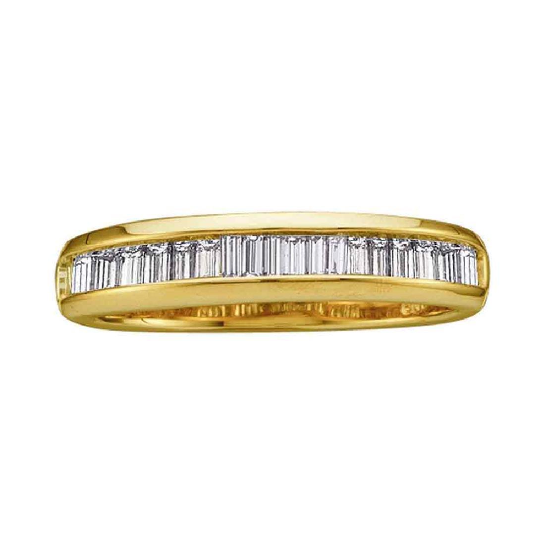 0.50 CTW Diamond Wedding Anniversary Ring 14KT Yellow