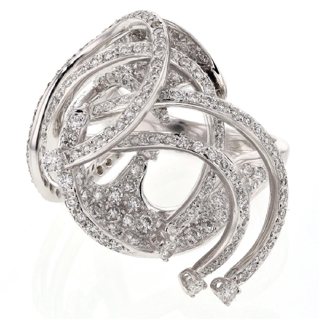 2.22 CTW Diamond Ring 18K White Gold - REF-245W4K