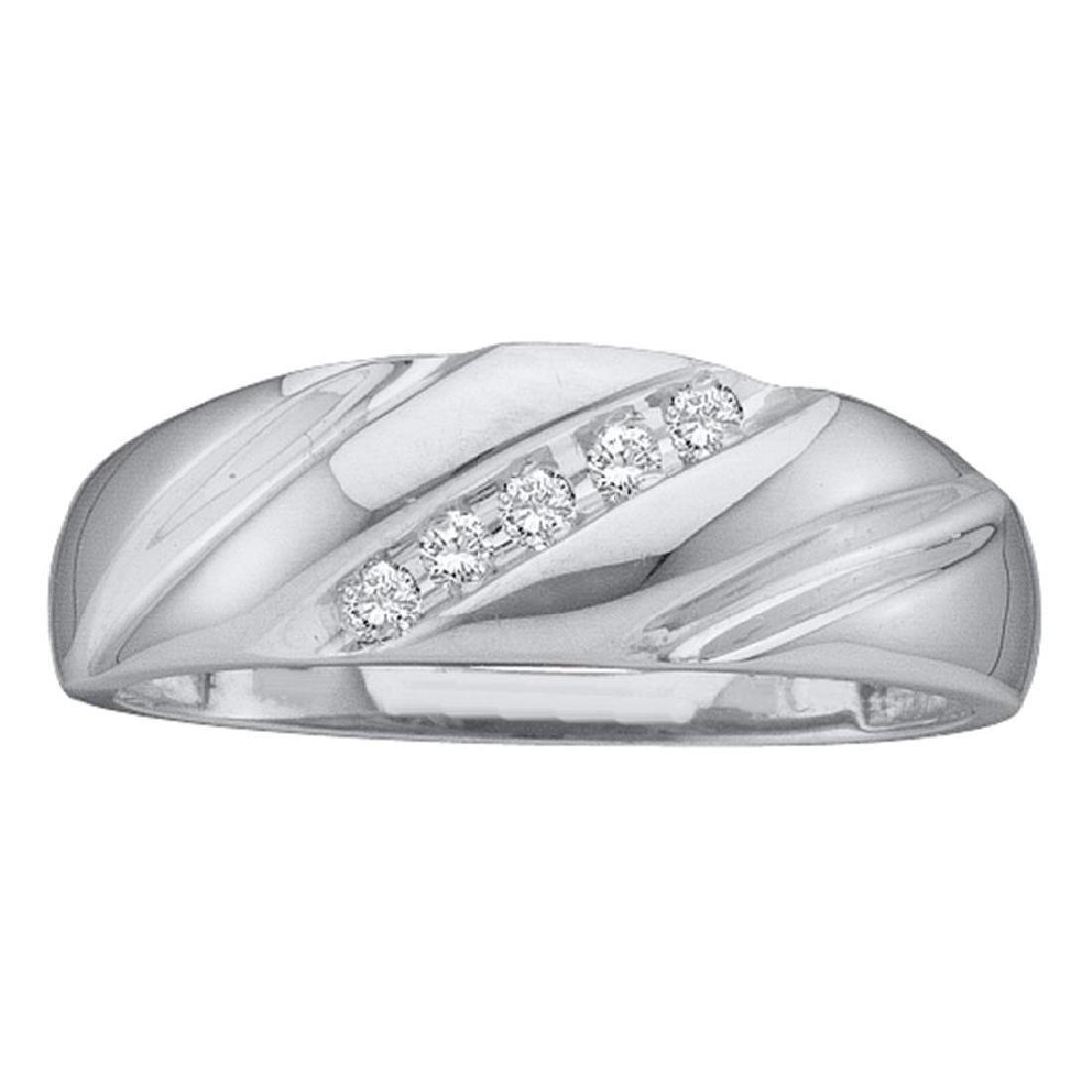 0.10 CTW Diamond Mens Wedding Anniversary Ring 10KT