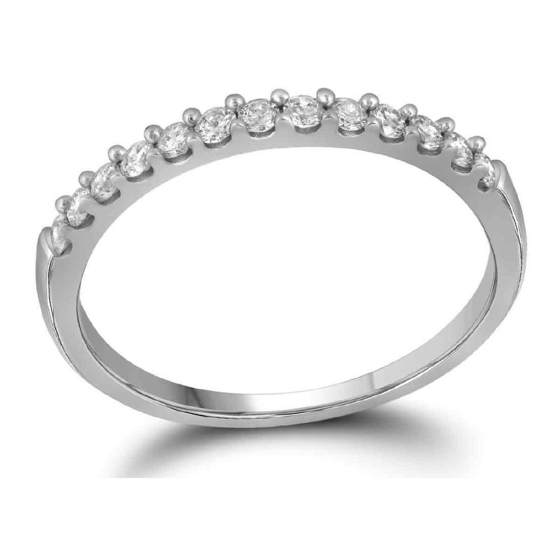 0.25 CTW Diamond Wedding Anniversary Ring 14KT White