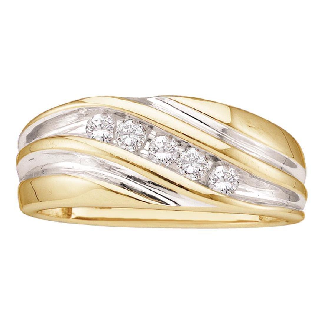 0.25 CTW Mens Diamond Wedding Anniversary Ring 14KT