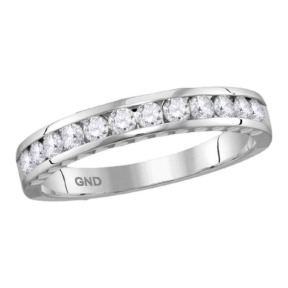0.50 CTW Diamond Wedding Anniversary Ring 14KT White