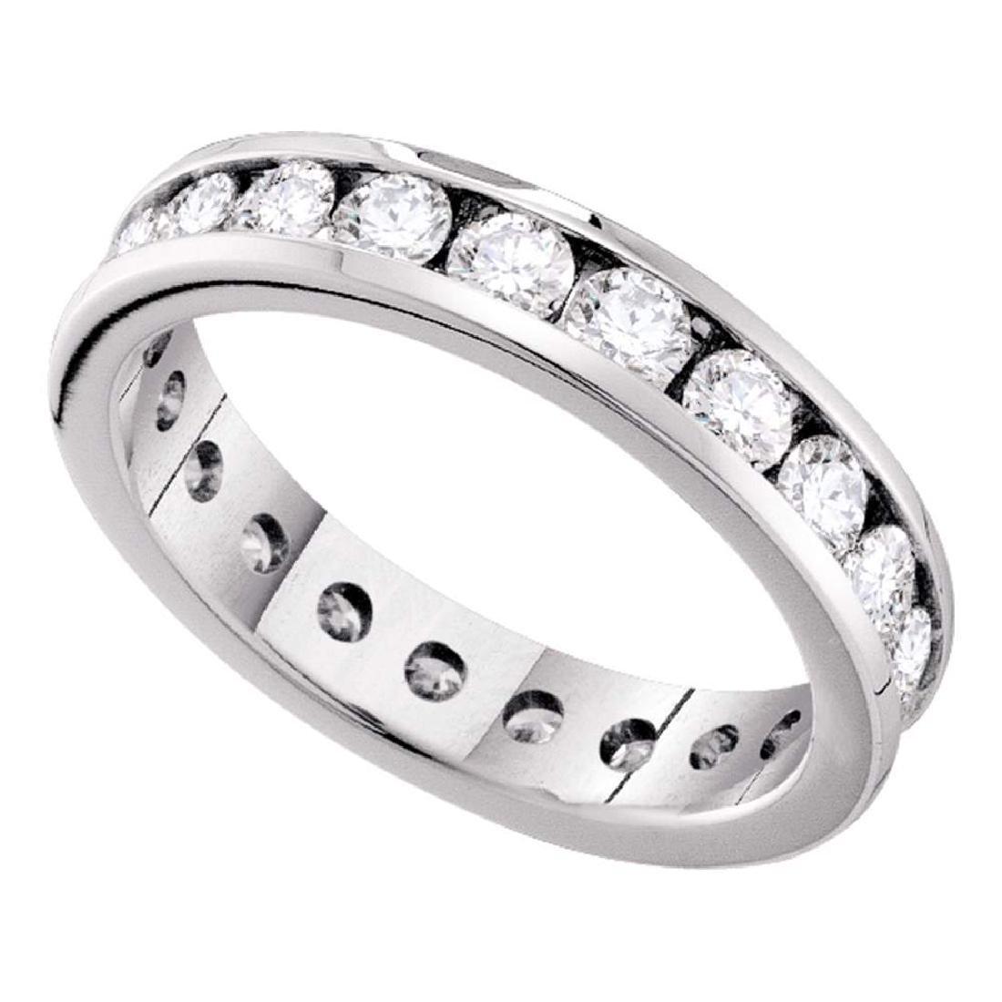 1 CTW Diamond Eternity Wedding Anniversary Ring 14KT