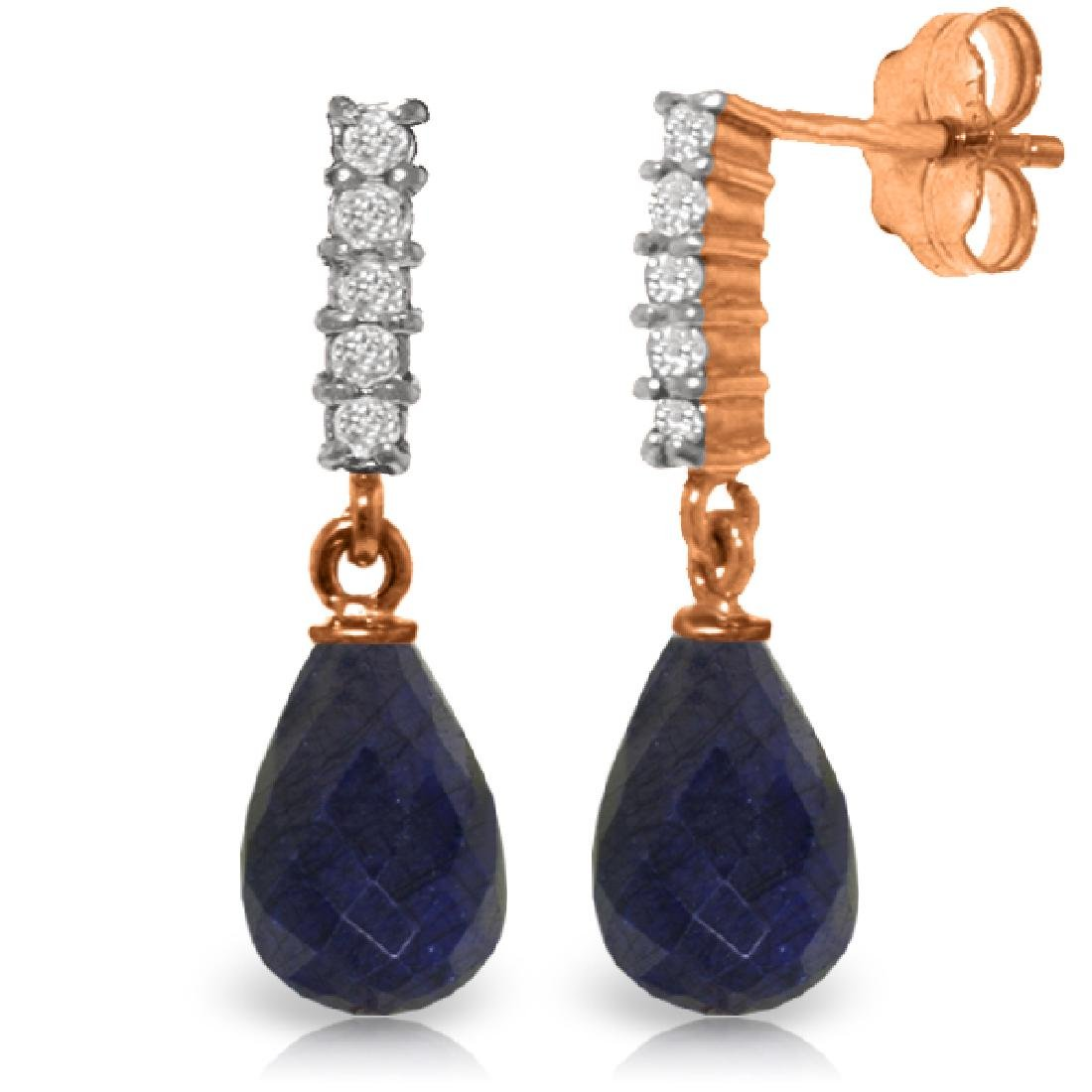 Genuine 6.75 ctw Sapphire & Diamond Earrings Jewelry