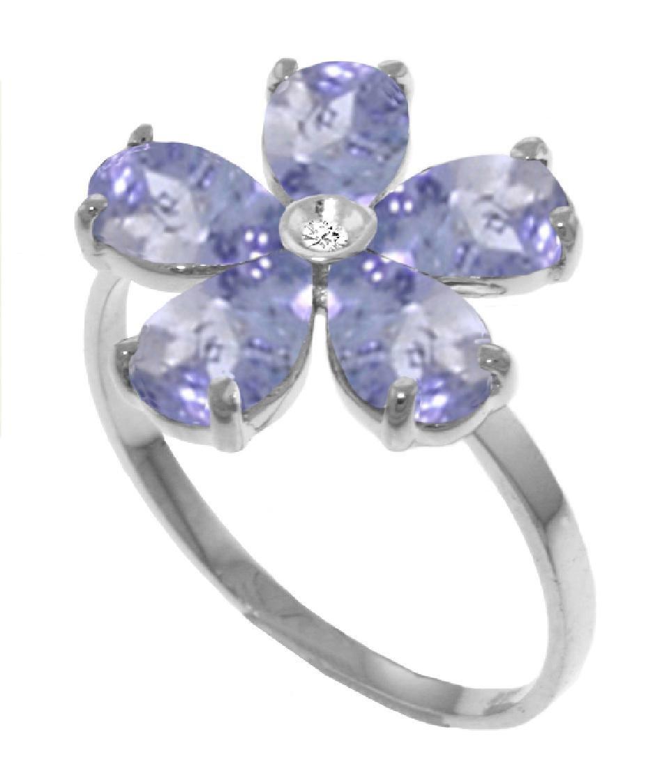 Genuine 2.22 ctw Tanzanite & Diamond Ring Jewelry 14KT