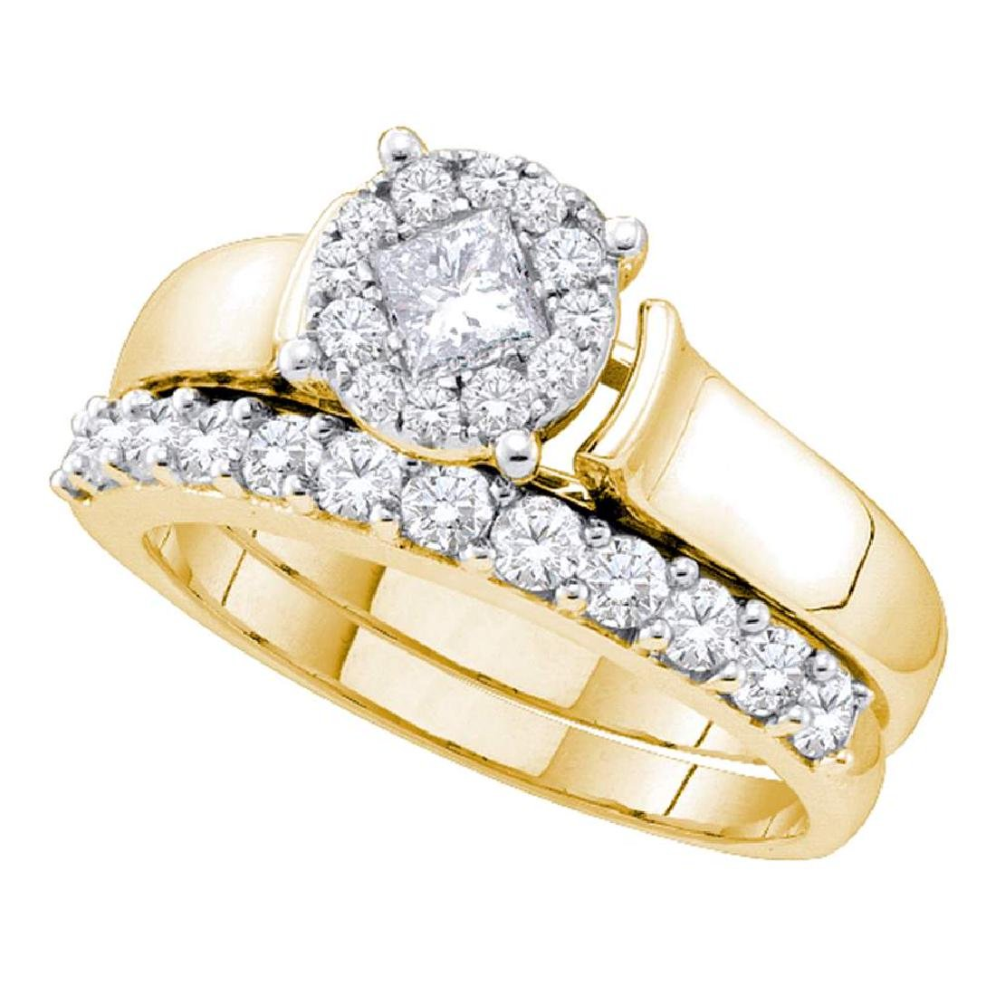 0.97 CTW Princess Diamond Soleil Bridal Engagement Ring