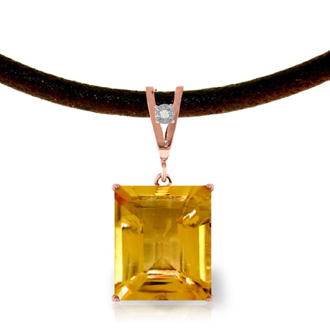 Genuine 6.51 ctw Citrine & Diamond Necklace Jewelry
