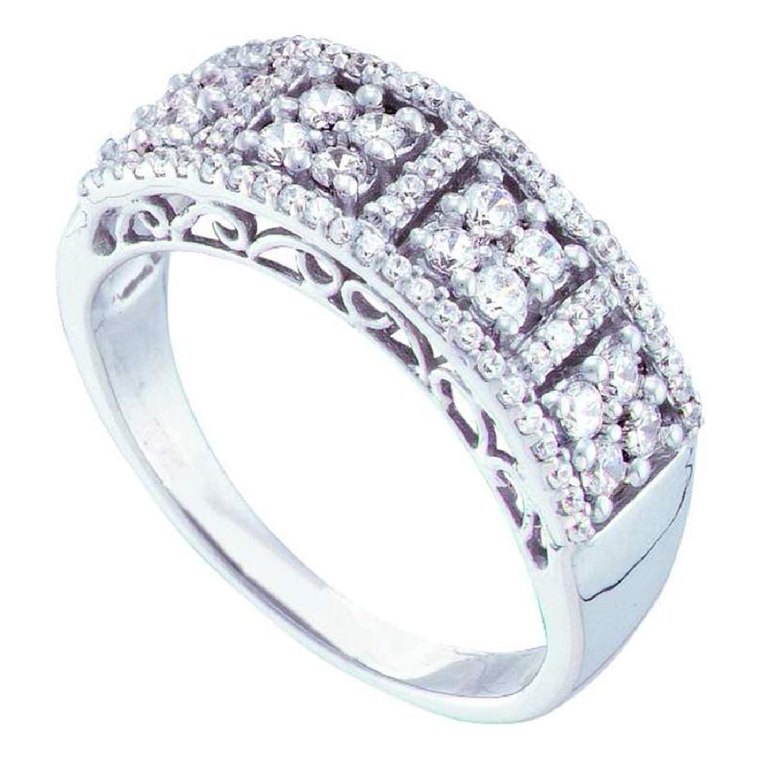 0.51 CTW Diamond Symmetrical Cluster Ring 14KT White