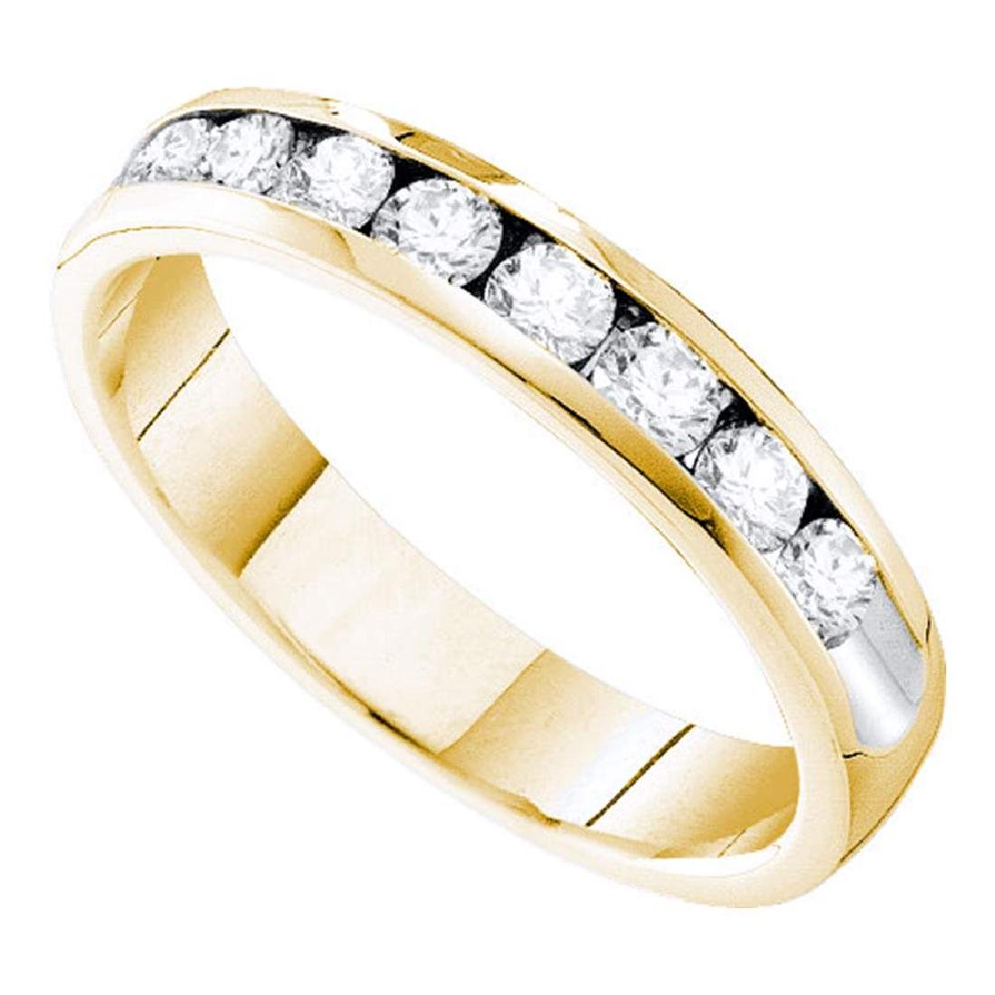 0.75 CTW Diamond 4mm Wedding Ring 14KT Yellow Gold -