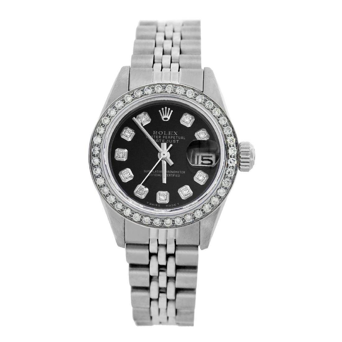 Rolex Pre-owned 26mm Womens Custom Black Stainless