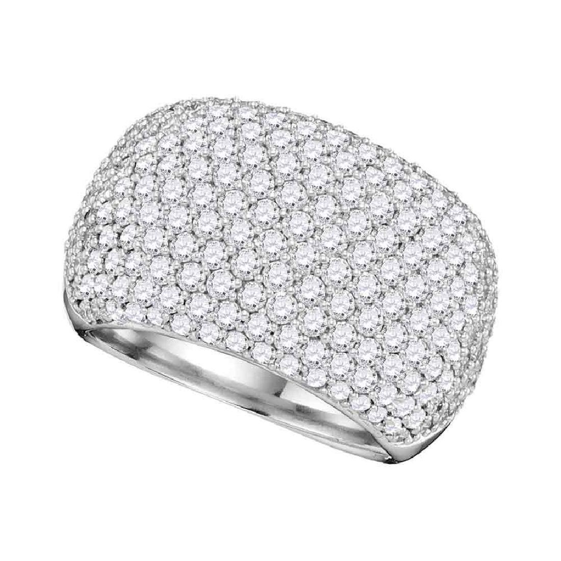 2.8 CTW Diamond Ring 14KT White Gold - REF-420X2Y