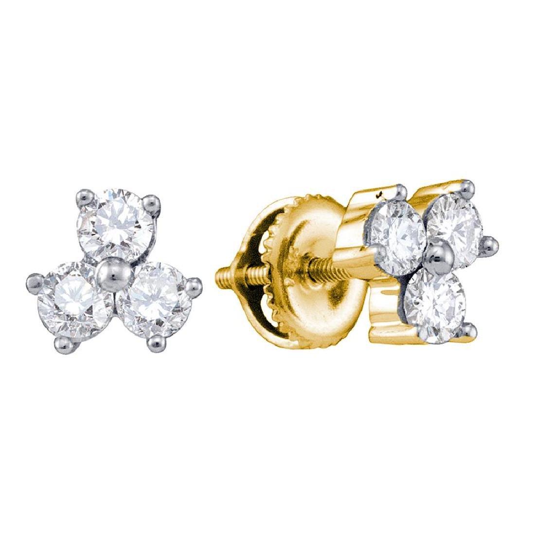 0.56 CTW Diamond Stud Earrings 14KT Yellow Gold -