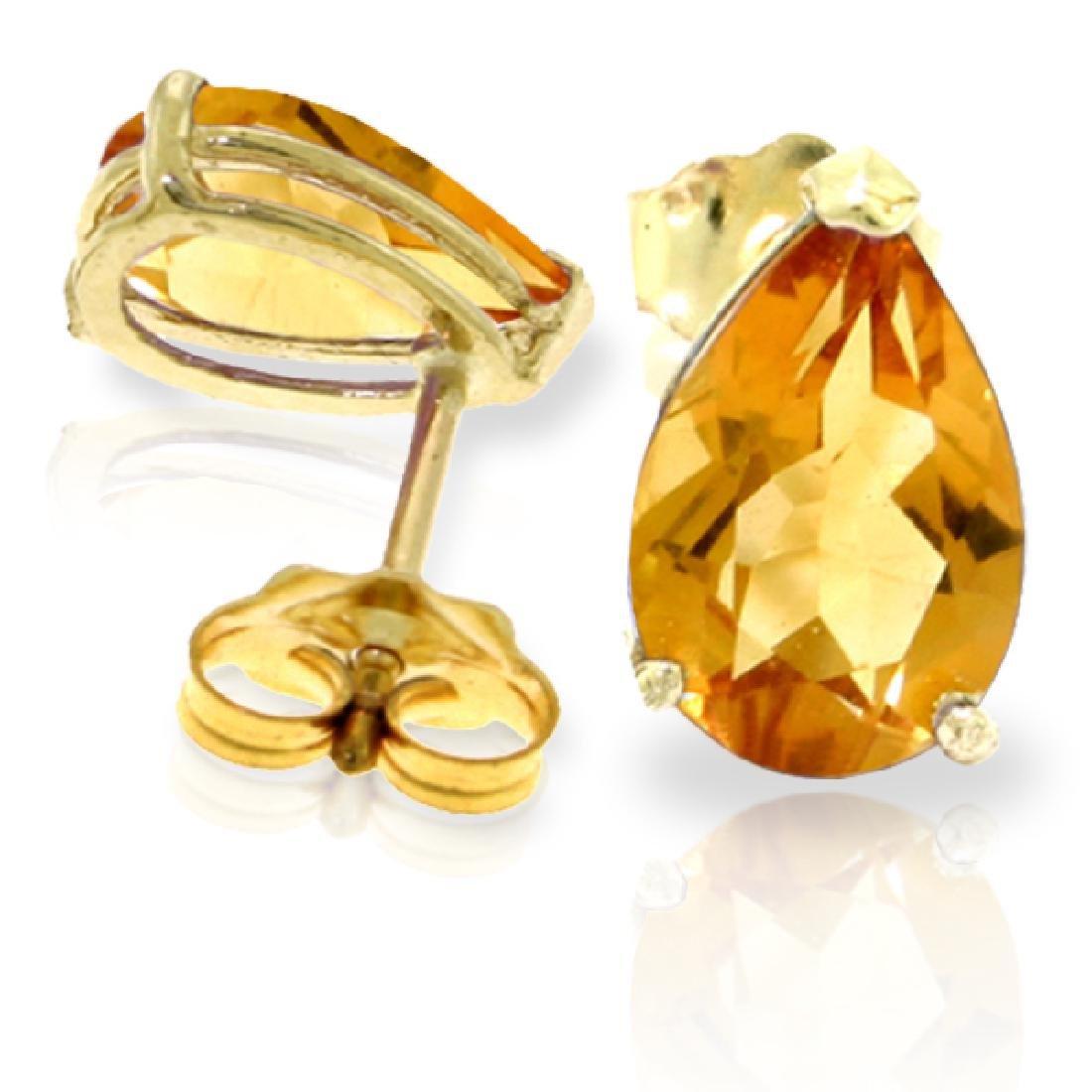 Genuine 3.15 ctw Citrine Earrings Jewelry 14KT Yellow