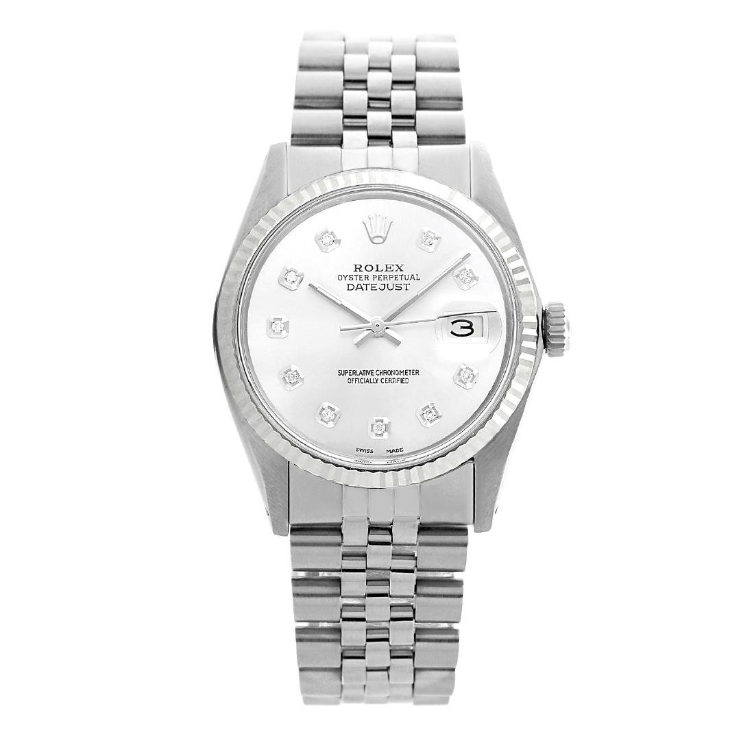 Rolex Pre-owned 36mm Mens White MOP Stainless Steel -