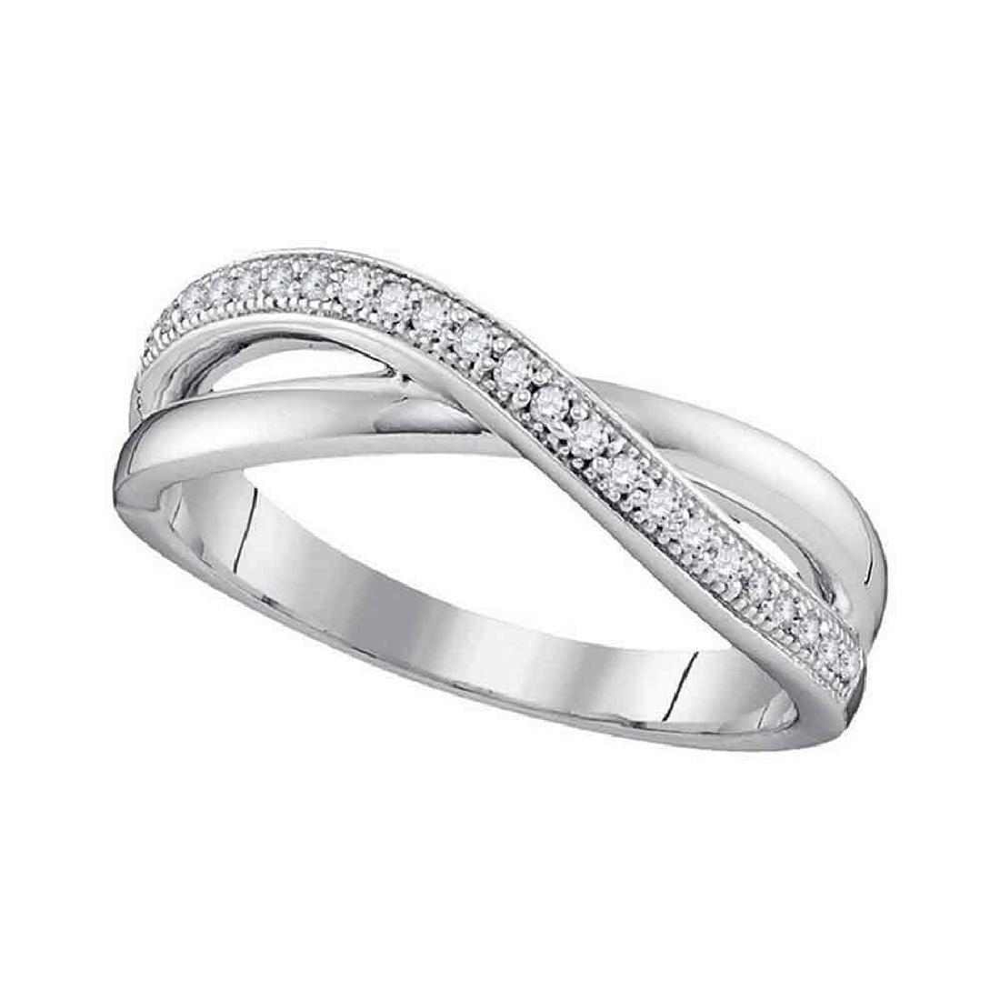 0.14 CTW Diamond Crossover Ring 10KT White Gold -