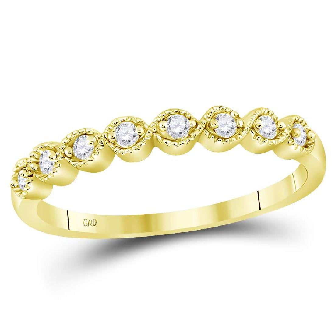 0.10 CTW Diamond Stackable Ring 10KT Yellow Gold -