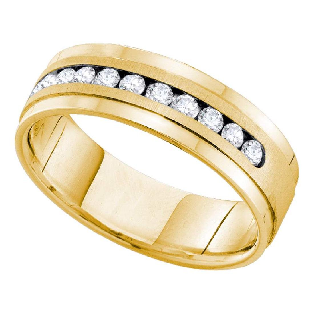 0.50 CTW Mens Channel-set Diamond Single Row Wedding
