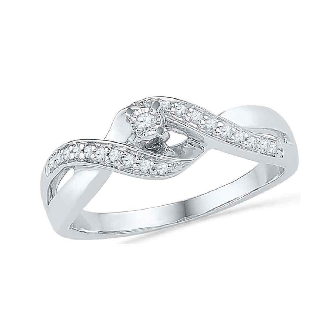 0.20 CTW Diamond Solitaire Crossover Promise Bridal
