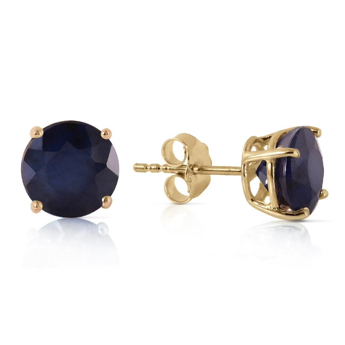 Genuine 3.3 ctw Sapphire Earrings Jewelry 14KT Yellow