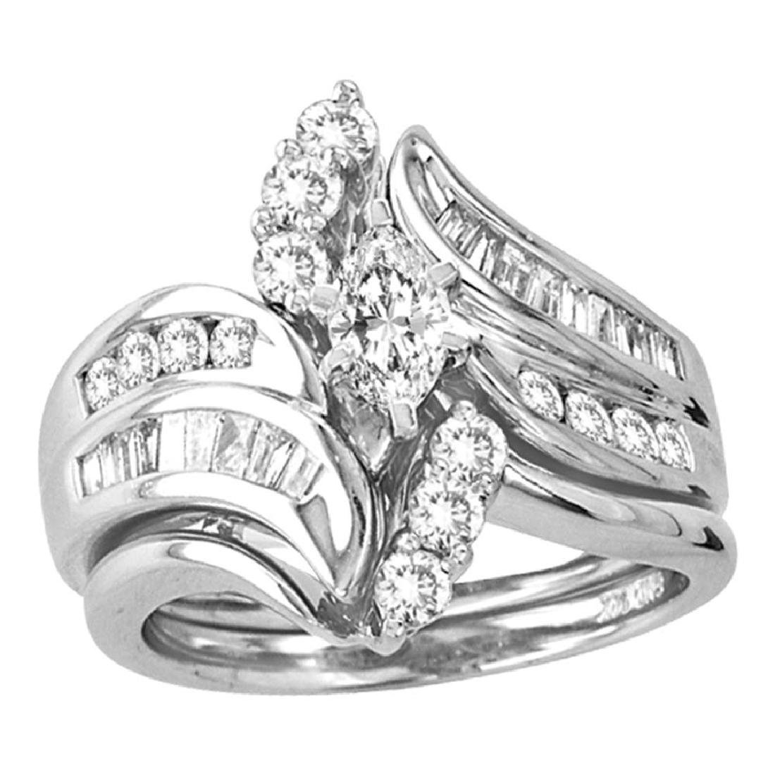 1.49 CTW Marquise Diamond Bridal Engagement Ring 14KT