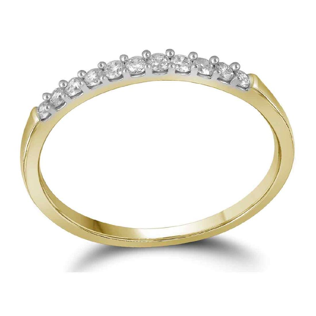 0.15 CTW Diamond Wedding Ring 14KT Yellow Gold -