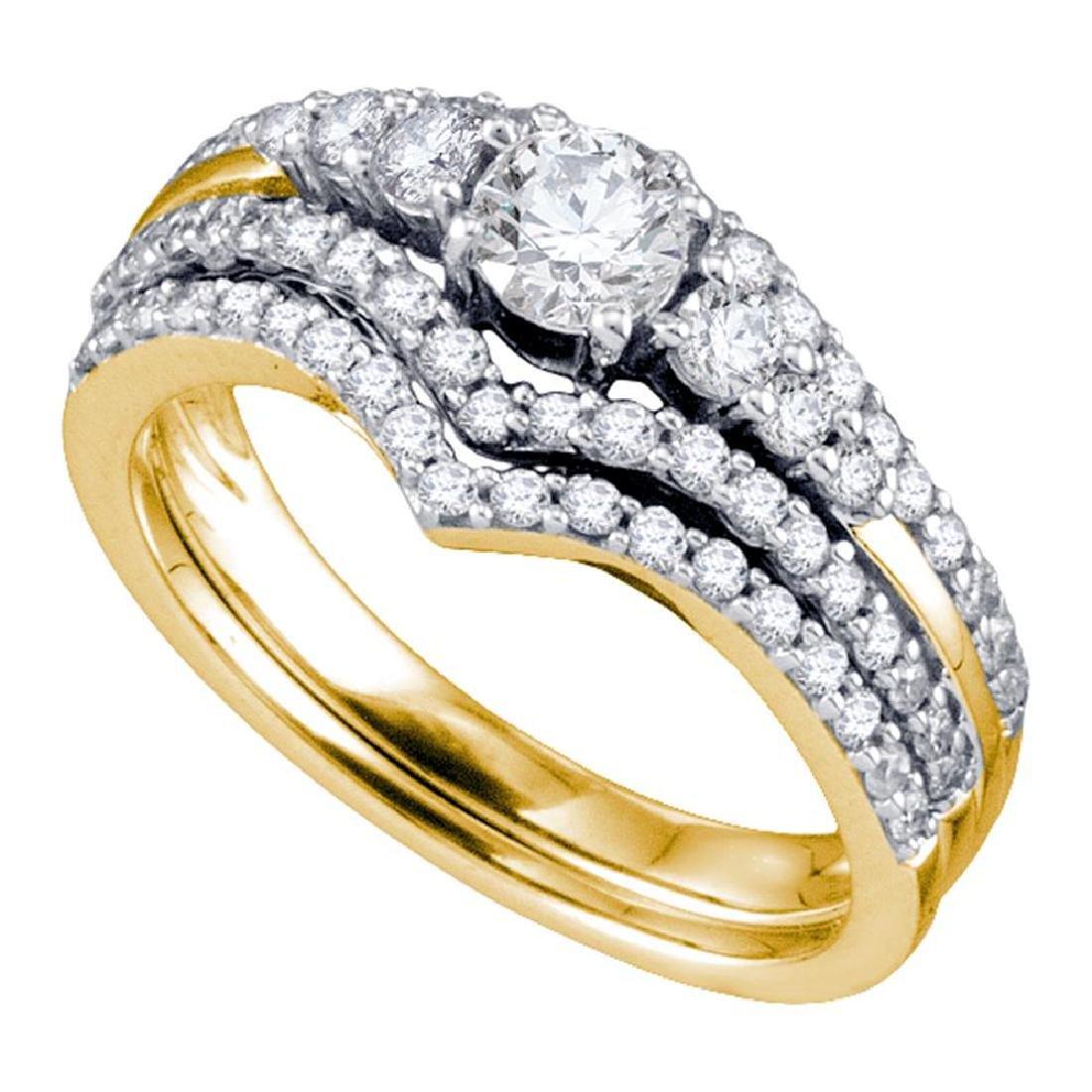 1 CTW Diamond Chevron Bridal Wedding Engagement Ring