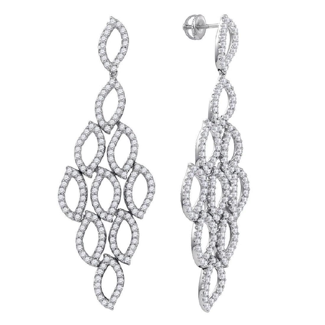 4.76 CTW Diamond Luxury Dangle Screwback Earrings 14KT