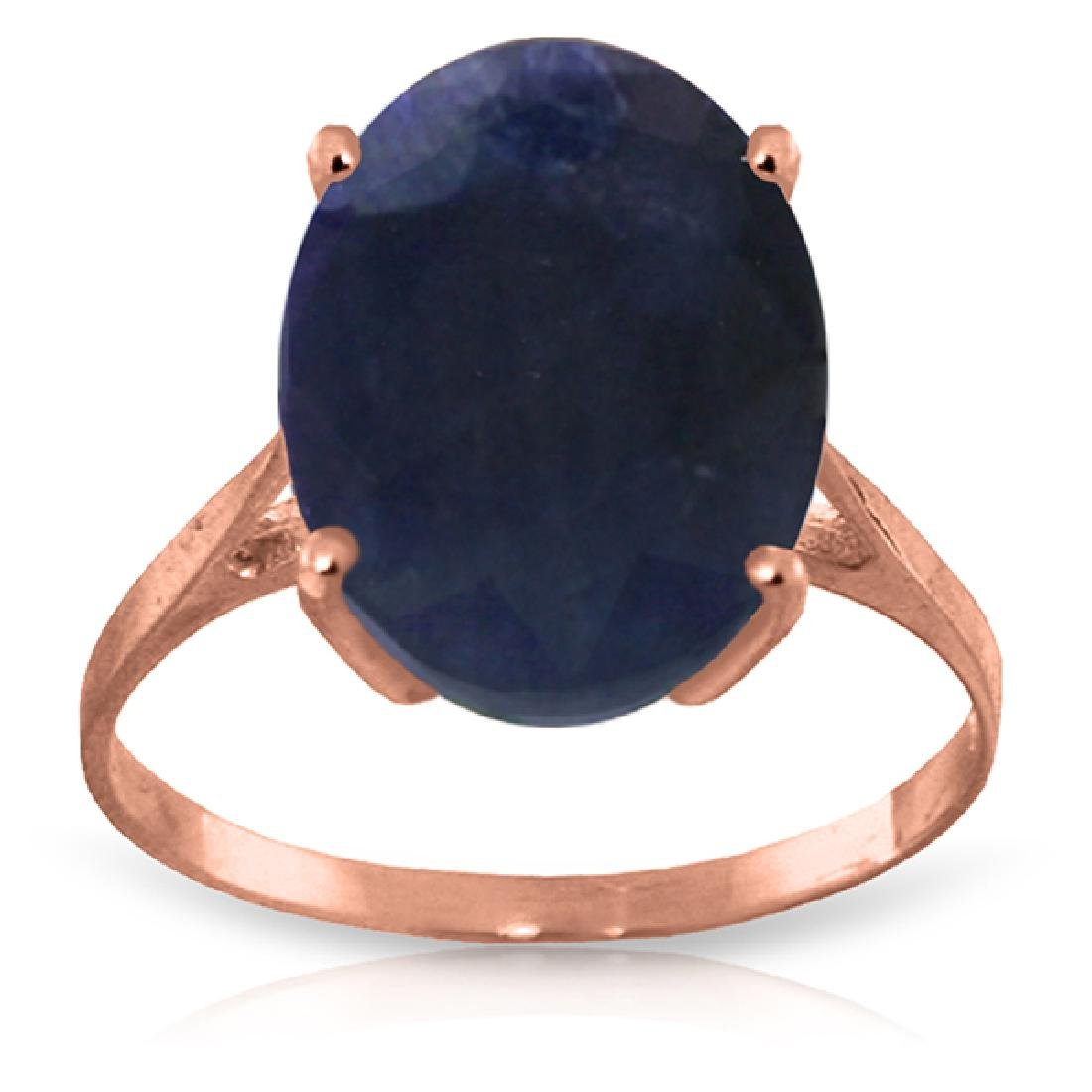 Genuine 8.5 ctw Sapphire Ring Jewelry 14KT Rose Gold -