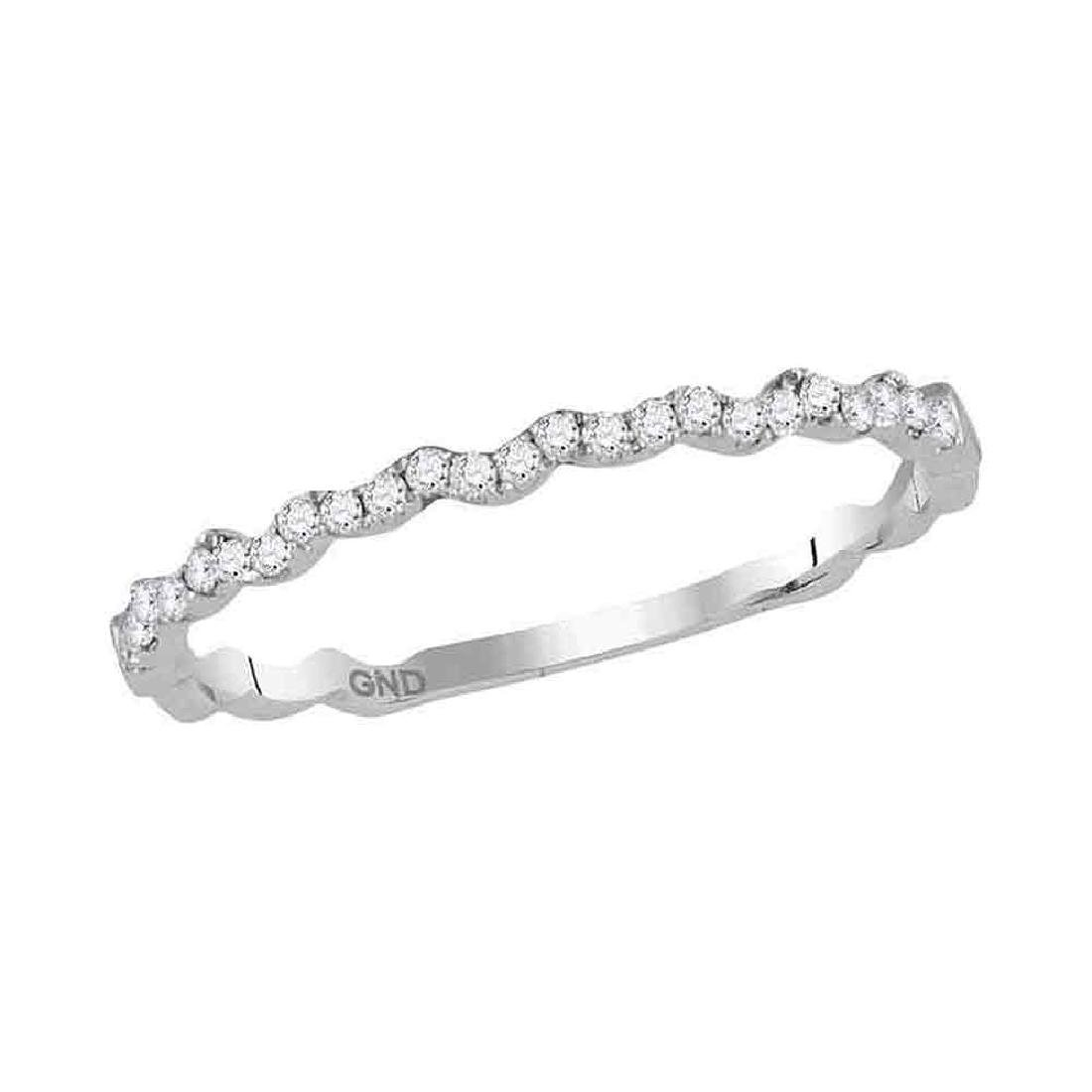 0.12 CTW Diamond Stackable Ring 14KT White Gold -