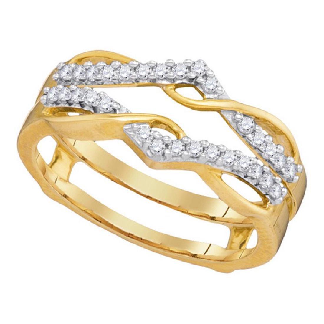0.25 CTW Diamond Wrap Ring 10KT Yellow Gold - REF-30X2Y